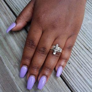 Vintage Jewelry - Vintage Sterling Silver Cross Ring
